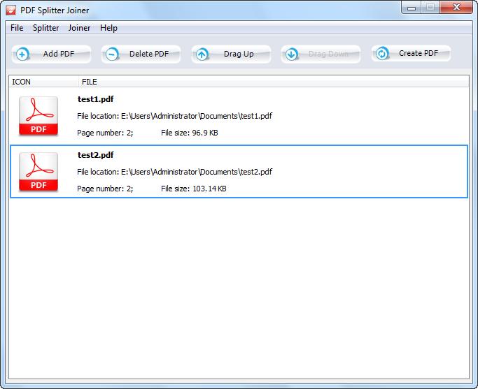 pdf splitter application