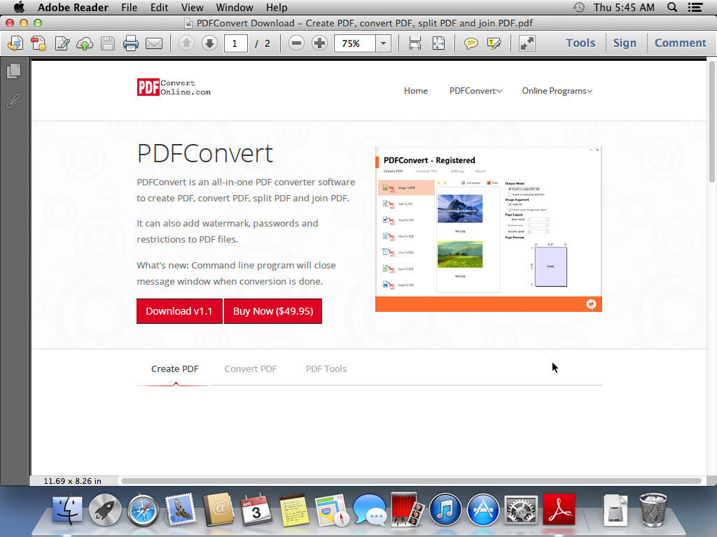 adobe pdf reader mac os x